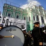 Адмиралтейский оркестр Ленинградской военно-морской базы на открытии БДТ