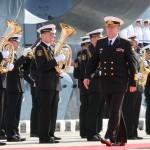 Главком ВМФ Виктор Чирков и Адмиралтейский оркестр