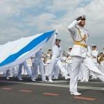 День ВМФ 2017. Георгиевский флаг линейного корабля «Азов»