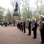 Адмиралтейский оркестр на праздновании 310-летия БФ в Кронштадте