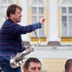 Игорь Бутман на Дворцовой (репетиция)