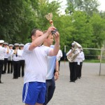 Вручение кубка победителю матча