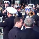 Премьер-министр Д.Медведев и Адмиралтейский оркестр ЛенВМБ