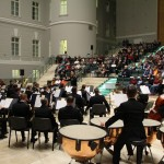 Концерт в Атриуме штаба