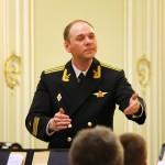 Валентин Лященко - начальник и дирижер Адмиралтейского оркестра