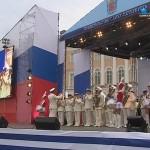 Адмиралтейский оркестр на концерте ко дню ВМФ на Дворцовой площади