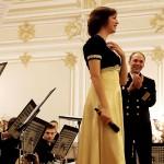 Мила Шкиртиль и Адмиралтейский оркестр Ленинградской военно-морской базы