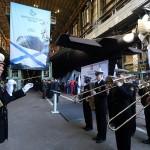 Адмиралтейский оркестр на церемонии спуска подводной лодки «Колпино»