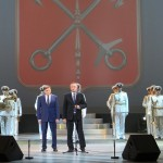 Александр Беглов, Вячеслав Макаров и Адмиралтейский оркестр